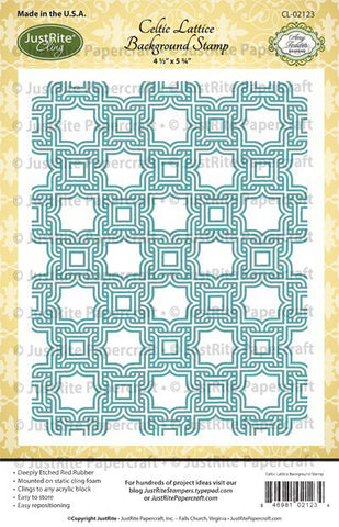 Celtic Lattice Background Stamp