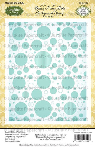 Bokeh Polka Dots Cling Background Stamp