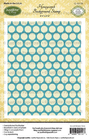 Honeycomb Cling Background Stamp