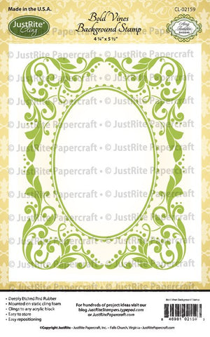 Bold Vines Cling Background Stamp