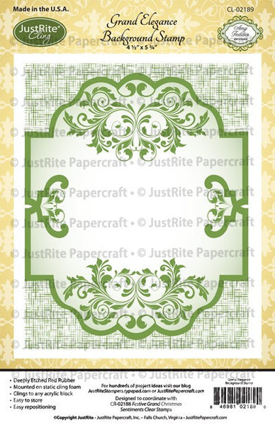 Grand Elegance Cling Background Stamp