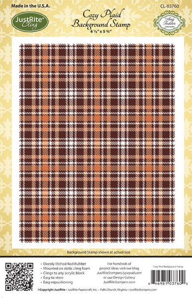 Cozy Plaid Background Cling Stamp