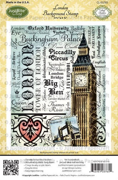 London Background Cling  Stamp