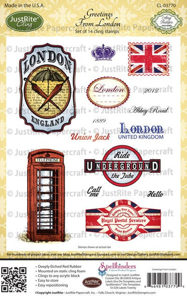 Greetings from London Cling Stamps