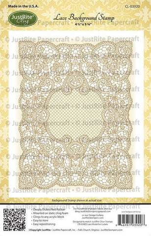 Lace Background Cling Stamp