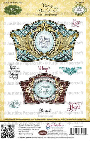 Vintage Pearl Labels Cling Stamps
