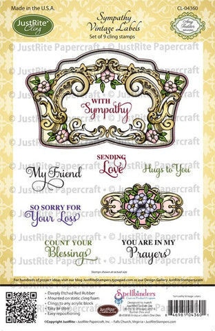 Sympathy Vintage Labels Cling Stamps