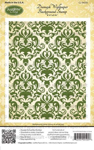Damask Wallpaper Background Cling Stamp
