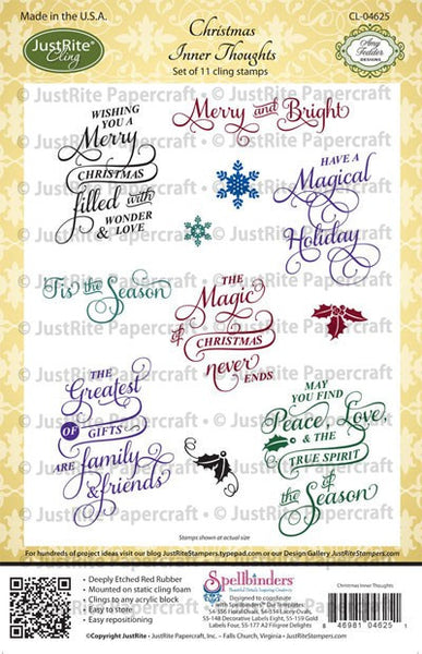 Christmas Inner Thoughts Cling Stamps