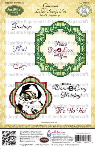Christmas Labels Twenty Two Cling Stamps