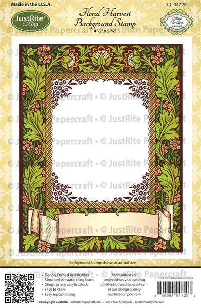 Floral Harvest Background Cling Stamp