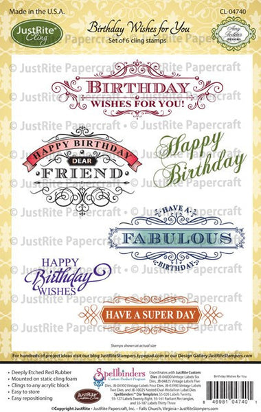 Birthday Wishes for You Cling Stamps