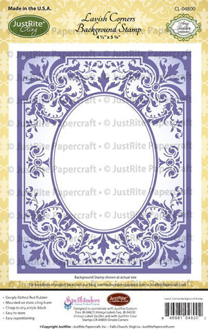 Lavish Corners Background Cling Stamp