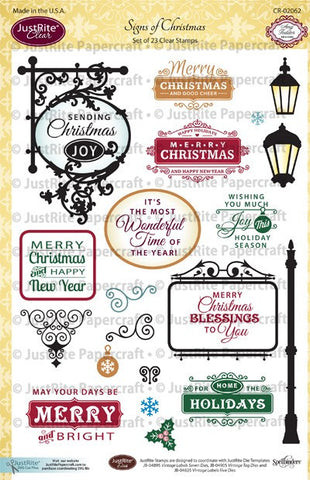 Signs of Christmas Clear Stamps