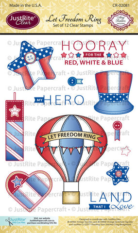 Let Freedom Ring Clear Stamps