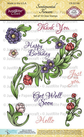 Sentimental Flowers Clear Stamps