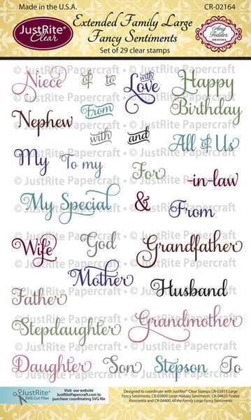 Extended Family Large Fancy Sentiments Clear Stamps