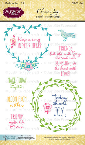 Choose Joy Clear Stamps