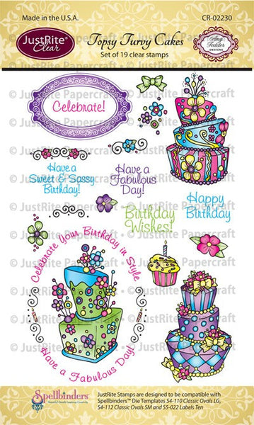 Topsy Turvy Cakes Clear Stamps