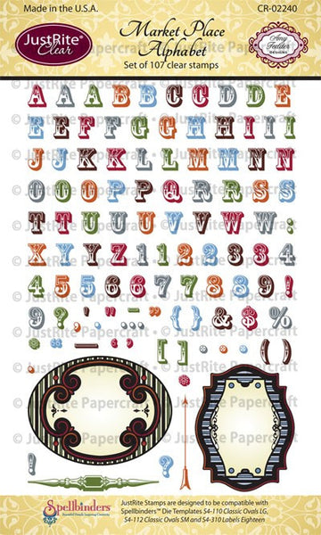 Market Place Alphabet Clear Stamps