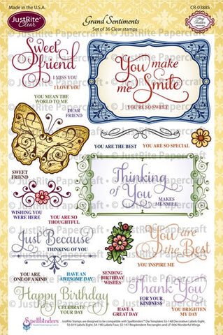 Grand Sentiments Clear Stamps