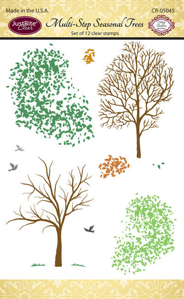 Justrite Mutli-Step Seasonal Trees Clear Stamps