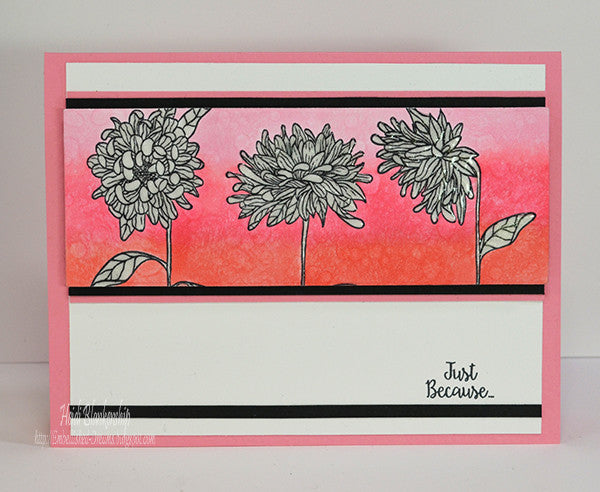 Justrite Chrysanthemums  Clear Stamps