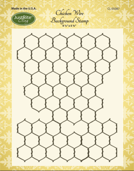 Justrite Chicken Wire Background Stamp