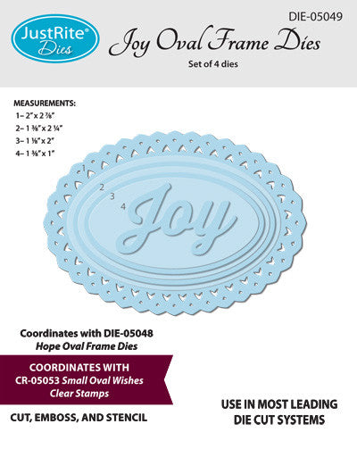 Justrite Large Oval Celebration Clear Stamps