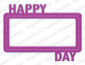 IO Impression Obsession Dies Happy Day Frame Die DIE285-S