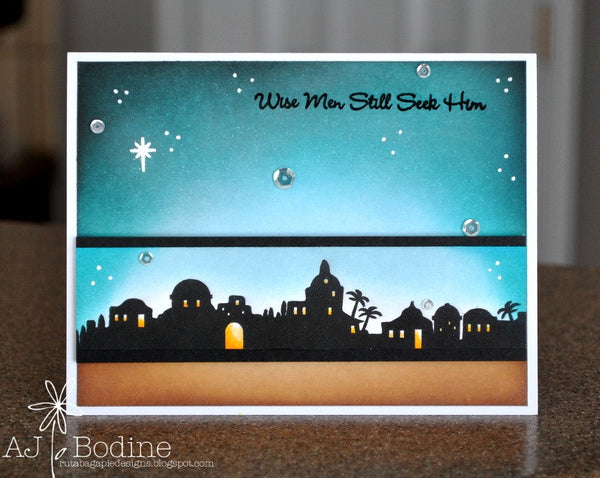 Justrite Nativity Sentiments Clear Stamps