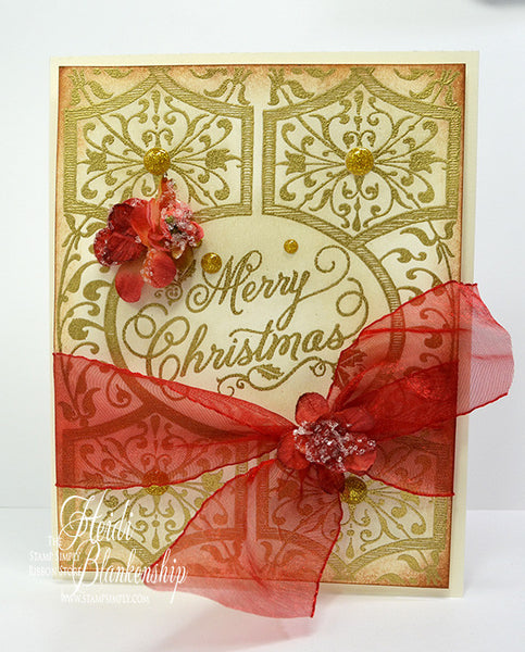 Festive Grand Christmas Sentiments Clear Stamps
