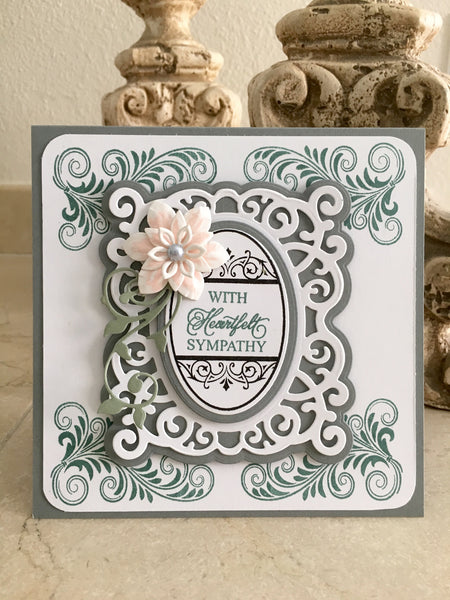 Justrite Large Oval Sympathy Clear Stamps