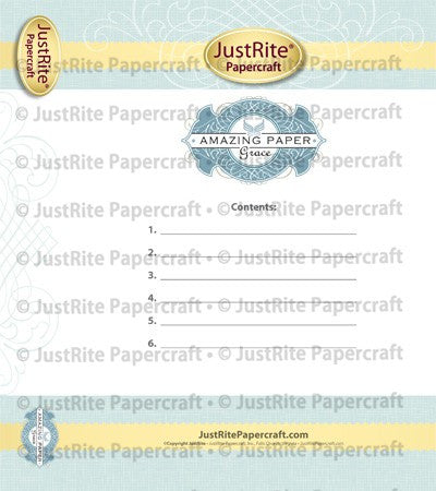Binder Box Insert Printable Digital Download for Amazing Paper Grace Designs