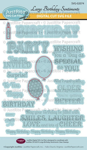 SVG Large Birthday Party Sentiments