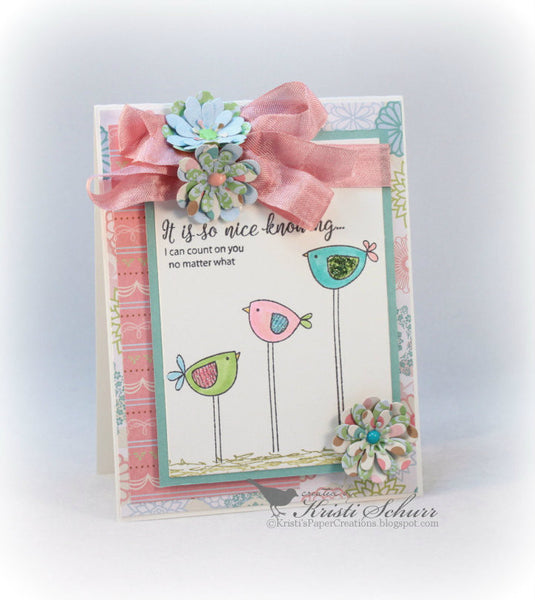Justrite Doodled Birds Clear Stamps