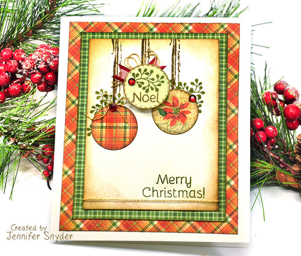 Justrite Large Christmas Oval Wishes Clear Stamps