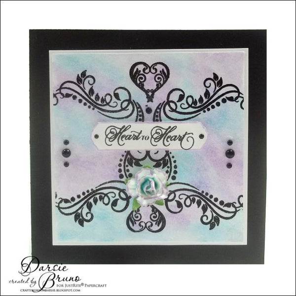 Justrite Papercraft Framed with Love Clear Stamps