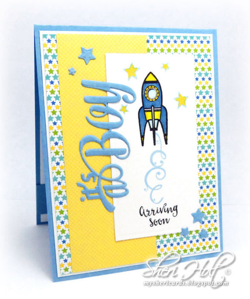 Justrite Arriving Soon Clear Stamps