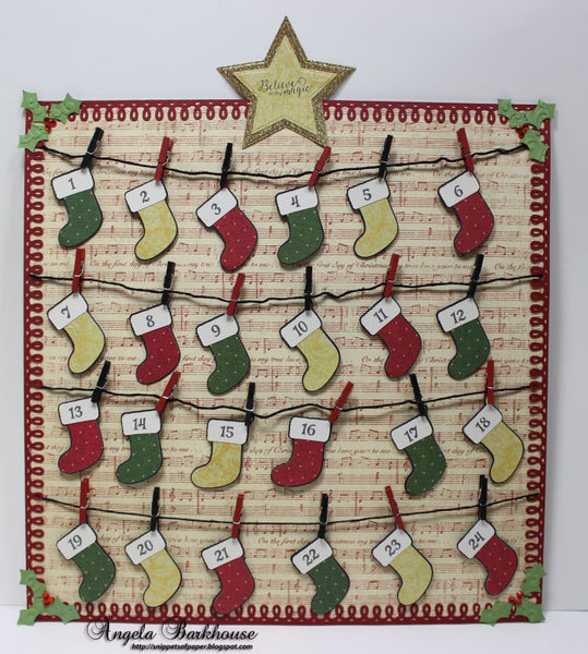 Justrite Christmas Mini Tags Clear Stamps