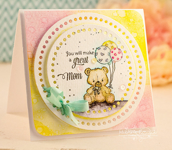 Justrite We are Having a Baby Clear Stamps