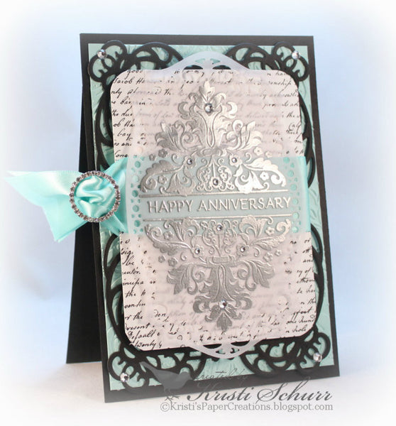 Sentimental Damask Vintage Labels Eight Clear Stamps