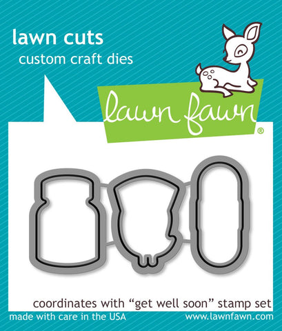 Lawn Fawn Get Well Soon Dies set LF683