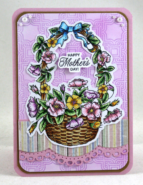 Floral Basket Clear Stamps