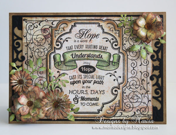 Ironworks Vintage Labels Eight Cling Background Stamp