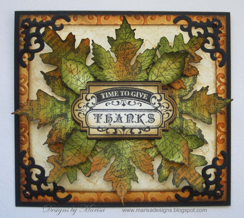 Shabby Chic Autumn Leaves Clear Stamps- UK VERSION