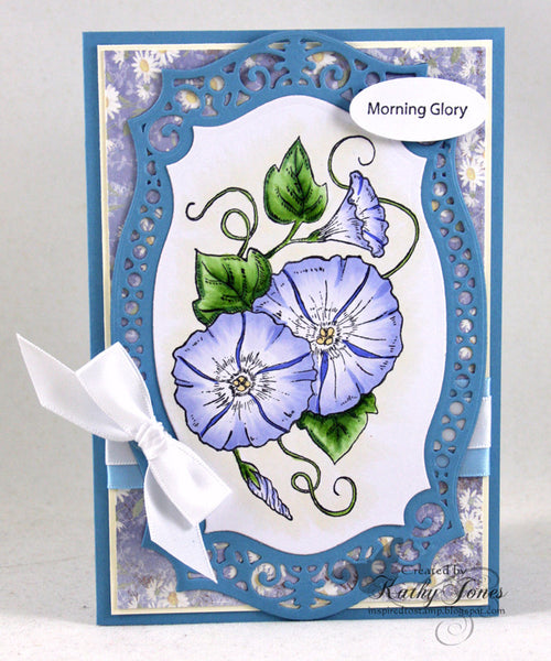 Morning Glory Cling Stamps
