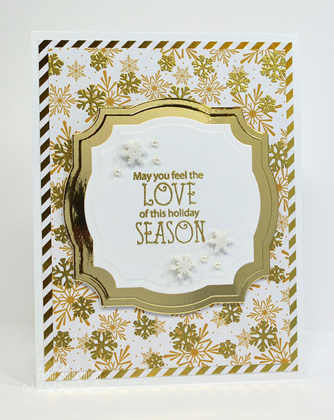 Peace and Joy Sentiments Clear Stamps