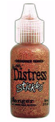Tim Holtz Distressing Stickles Glitter Glue Dried Marigold
