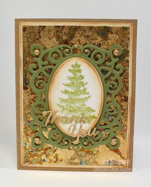 Justrite Multi-Step Pine Trees Clear Stamps